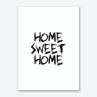 Home Sweet Home (White) Art Print