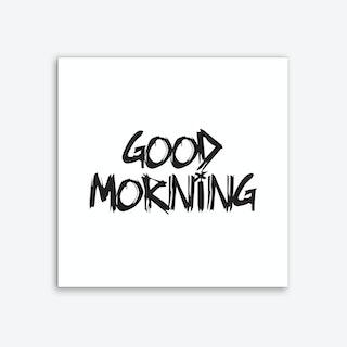 Good Morning Square (White) Art Print