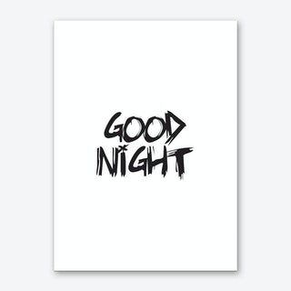 Good Night (White) Art Print