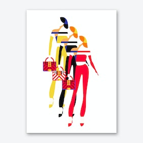 Stylish Women Art Print