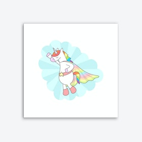 Unicorn Superhero Art Print