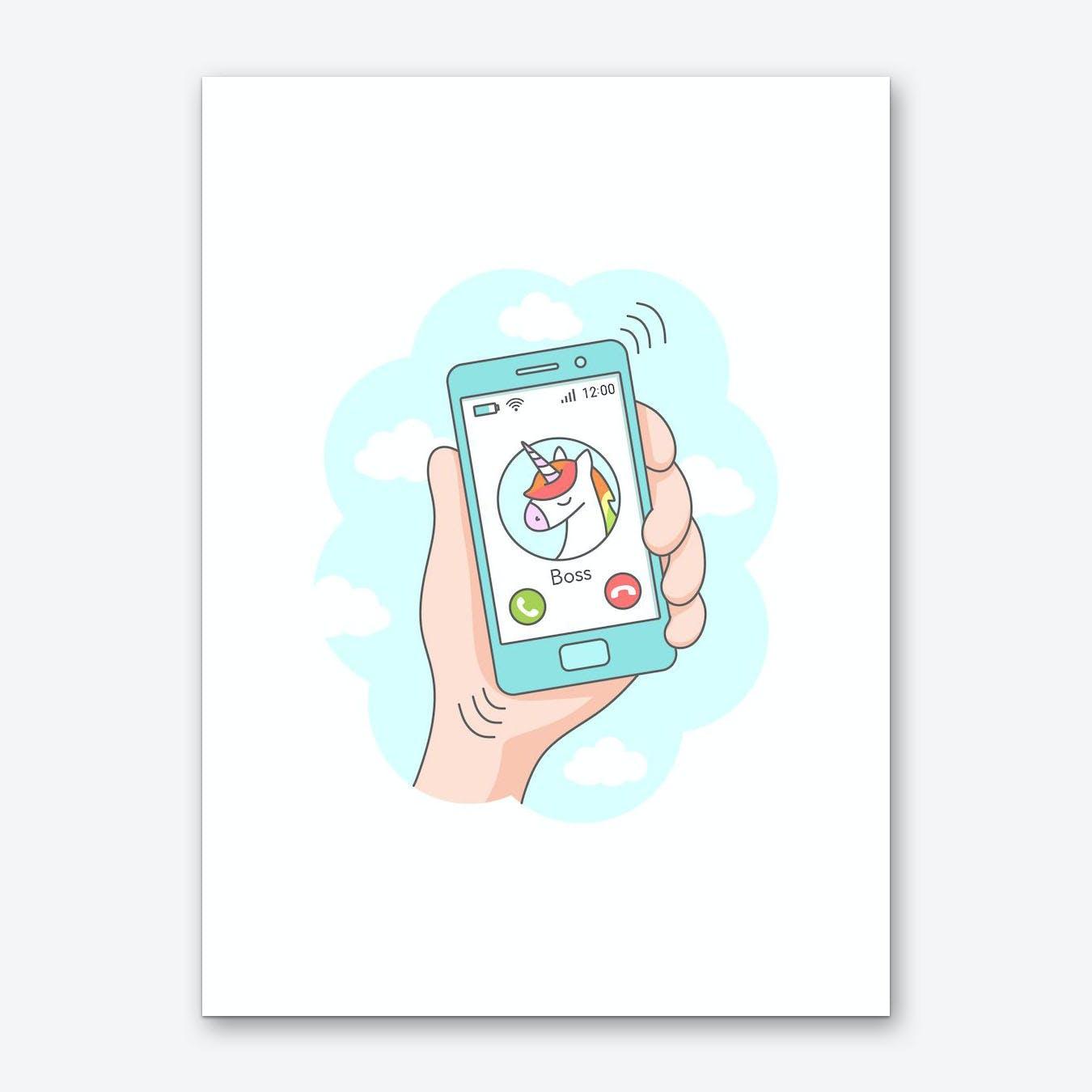 Unicorn Call Art Print
