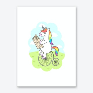 Unicorn Stroll Art Print