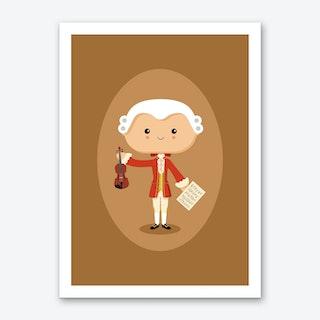 Wolfgang Amadeus Mozart Art Print