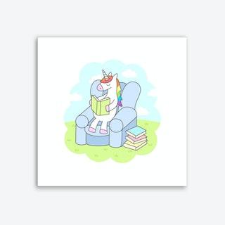 Unicorn Reader Art Print