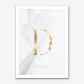 Letter D Gold Art Print