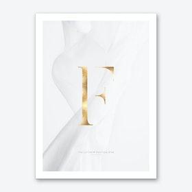 Letter F Gold Art Print