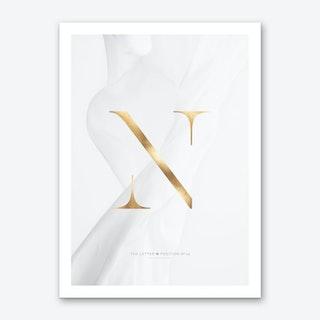 Letter N Gold Art Print