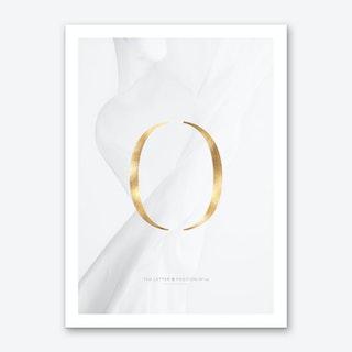 Letter O Gold Art Print