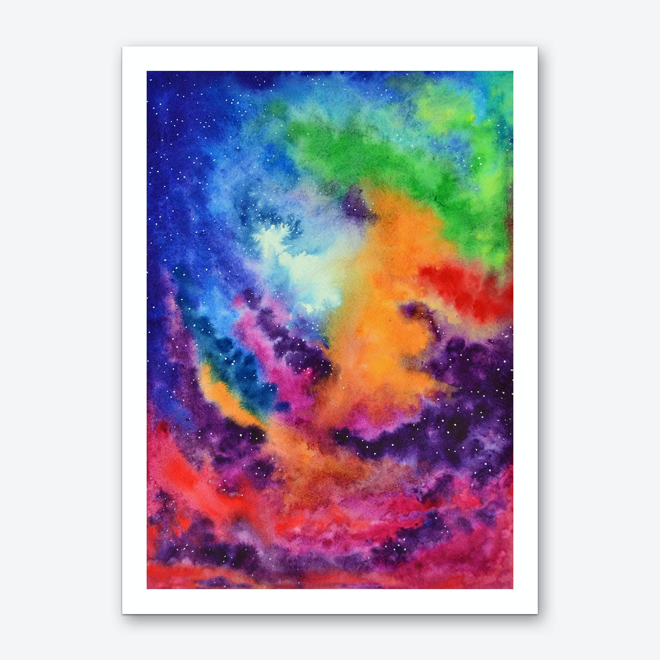 Colors of the Unicorn Island Art Print
