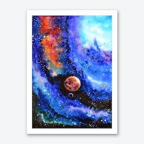 Galaxy Landscape Art Print