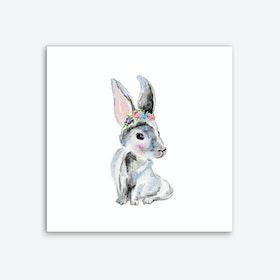 Bunny V Art Print