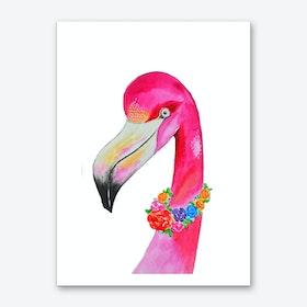 Flamingo Colors Art Print