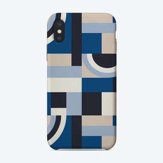 Classic Blue Blocks Phone Case