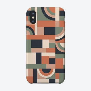 Earth Tones Blocks Phone Case