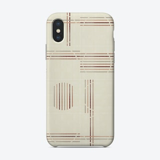 Minimal Rustic Tiles 03 Phone Case