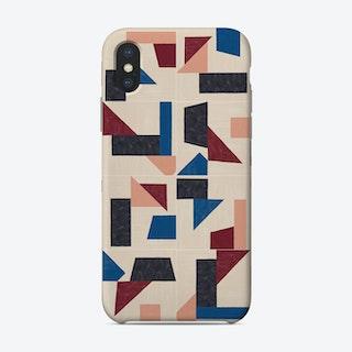 Tangram Wall Tiles 03 Phone Case