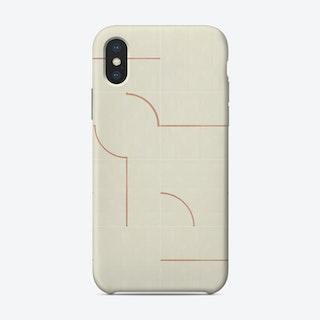 Minimal Wall Tiles 03 Phone Case