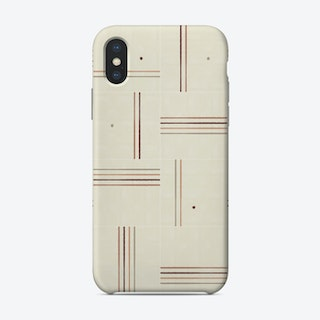Minimal Rustic Tiles 01 Phone Case