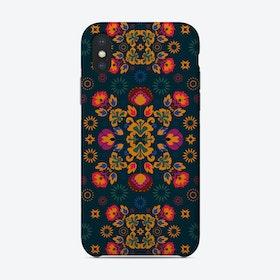 Fiesta Folk Blue Phone Case