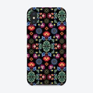 Fiesta Folk Black Phone Case