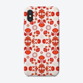 Fiesta Folk Red Phone Case