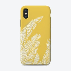 Banana Leaves On Yellow Phone Case