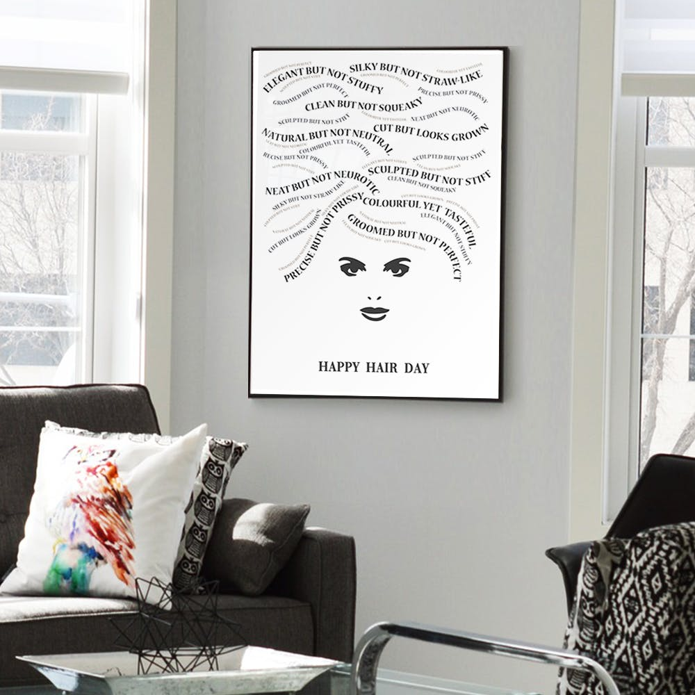 Happy Hair Day Art Print