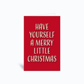 Have Yourself A Merry Little Christmas (Retro) Greetings Card