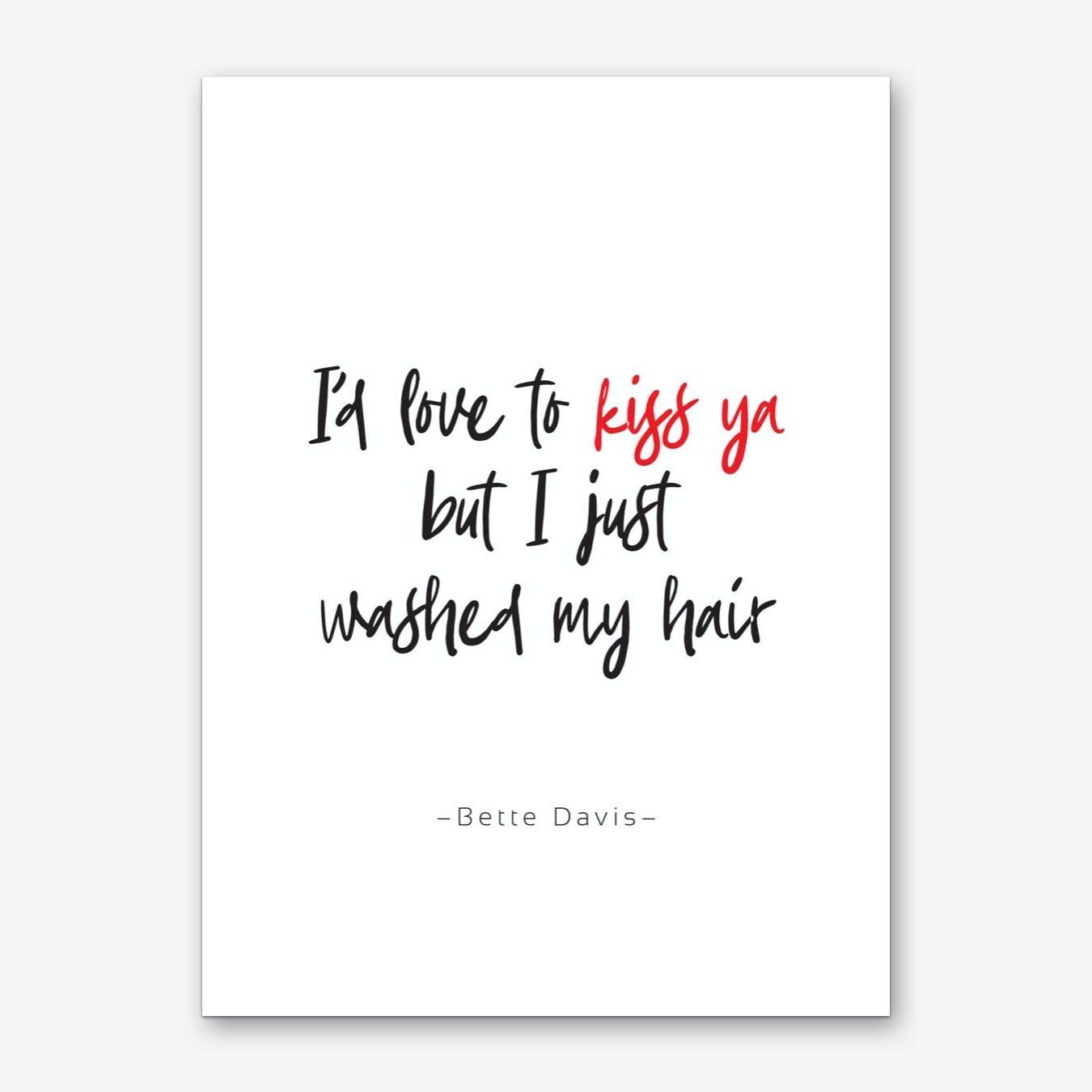 Bette Davis Quote Art Print