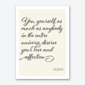 Buddha Quote on Loving Oneself Art Print