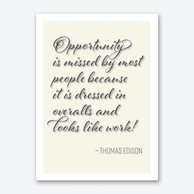Edison Quote on Opportunity Art Print