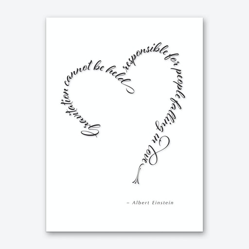 Einstein Love Quote Art Print