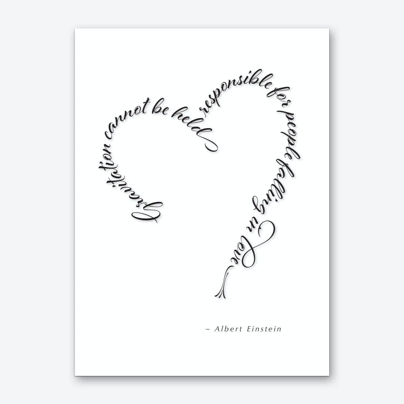 Einstein Love Quote Art Print