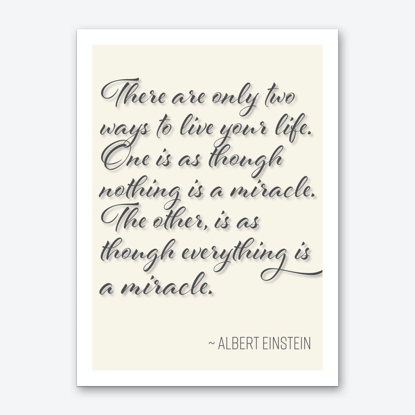 Einstein Quote on Life Art Print