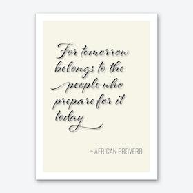 African Proverb Art Print