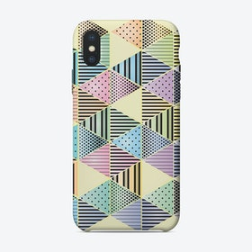 Dots and Triangles iPhone Case