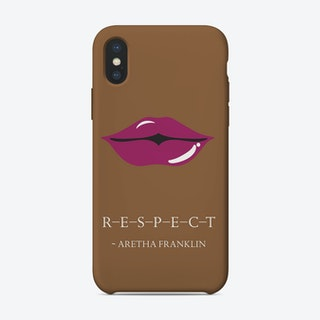From the lips of Aretha Franklin iPhone Case
