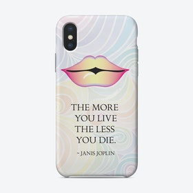 From the lips of Janis Joplin iPhone Case
