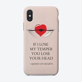 From the lips of Queen of Hearts iPhone Case