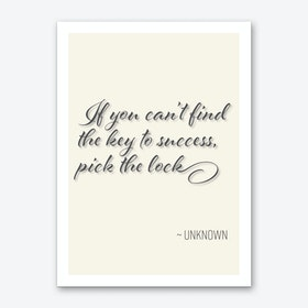 Pick The Lock Of Success Art Print
