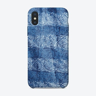 Blue Fabric iPhone Case