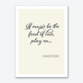 Shakespeare Quote On Music And Love Art Print