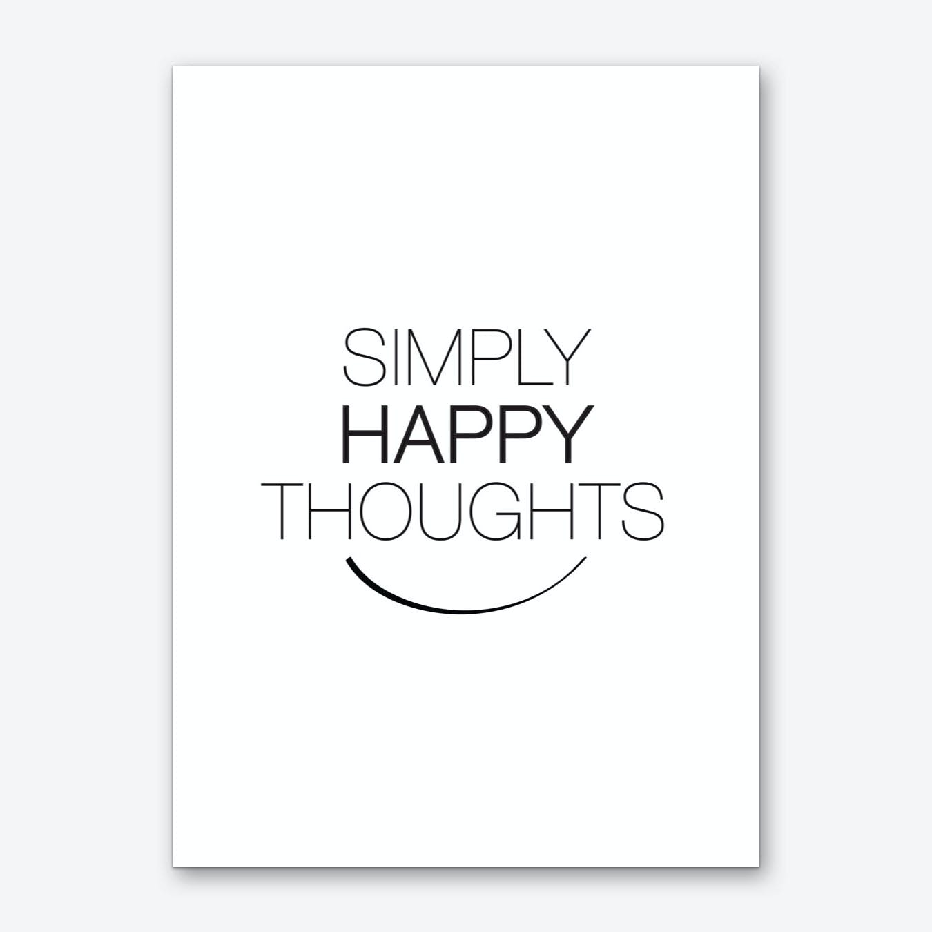 Simply Happy Thoughts Art Print