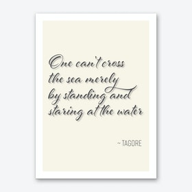 Tagore Quote on Attitude Art Print