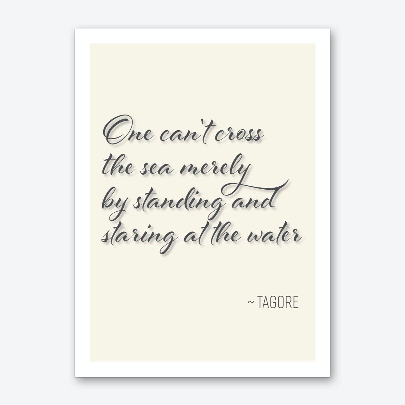Tagore Quote on Attitude Art Print