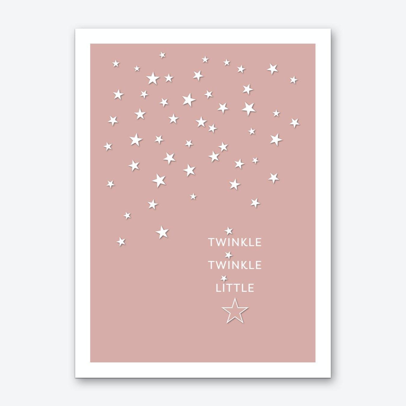 Twinkle Twinkle in Rose Gold Art Print