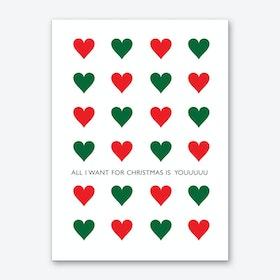All I Want for Christmas Art Print
