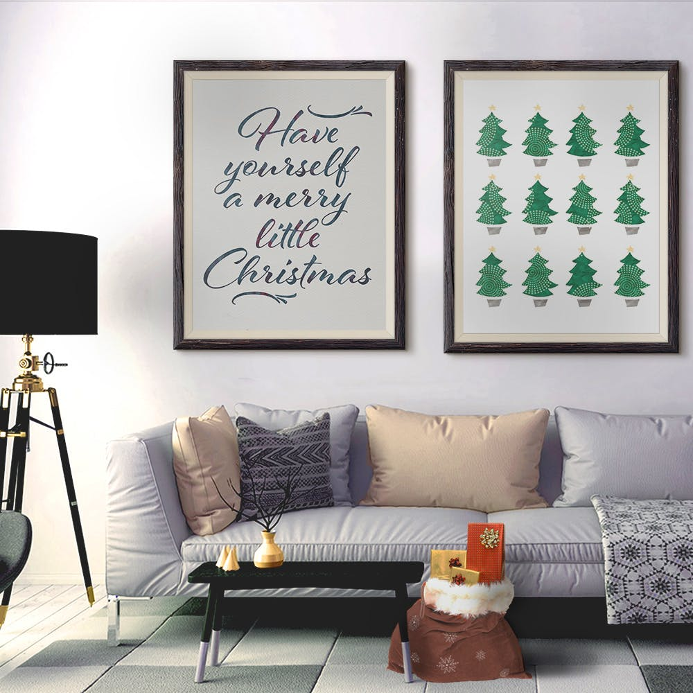 Merry Little Christmas Art Print