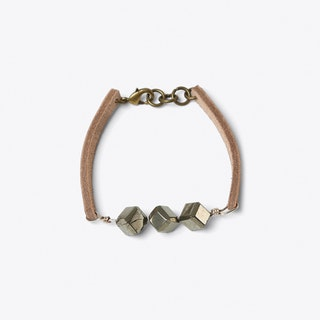 Pyrite Bracelet in Nude